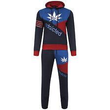 Brand New Mens Boys Luxuary Fleece Pullover Full TrackSuit Jogging Bottom Hoodie