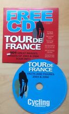 Tour de France Facts & Figures 2003 & 2004. PC compatible CD. Promo Cycling week