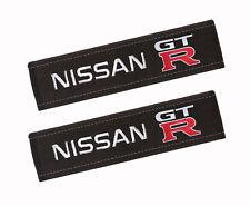2 Gurtpolster Nissan GTR Alcantara Gestickt embleme,Sicherheitsgurt-Gurtschoner