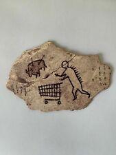 Banksy Wooden Sculpture Peckham Rock British Museum Post Card Art Print