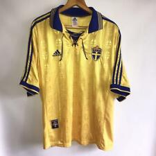 RARE VINTAGE SWEDEN HOME 1998/99 ORIGINAL FOOTBALL SHIRT JERSEY ADIDAS SIZE XL