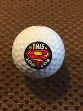 LOGO GOLF BALL-SUPERMAN.....IS THIS A JOB FOR SUPERMAN.......NEW!!