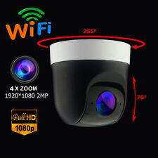 Wireless 4X Zoom PTZ Speed Dome IP Camera Wifi HD 1080P 2.0MP Audio Sony CMOS IR