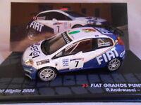 FIAT GRANDE PUNTO S2000  RALLY 1000 MIGLIA 2006 ANDREUCCI  IXO ALTAYA 1/43