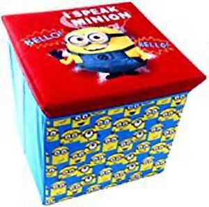 Despicable Me Minion Ottoman Storage Stool Box Toy Chest Seat  Kids Childrens