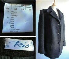 RIO Black Wool Alpaca Mohair Jacket Coat Plus Size 28