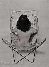 1950's Vintage Mid Century FEMALE NUDE Reading Newspaper Photo Art ZOLTAN GLASS