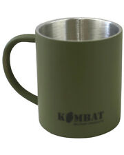 Army Green Stainless steel Mug Thermal double wall insulation Camping Bushcraft