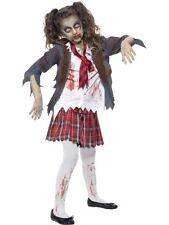 Zombie École Costume Fille, Halloween Enfants Déguisement Robe