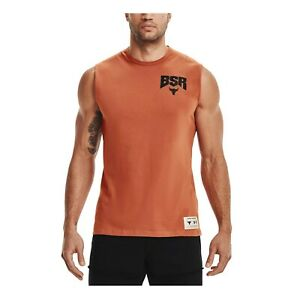 Under Armour Men's Project Rock BSR Sweat Activated Graphic Tank Top 1364744-843