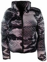 Womens Ladies Animal Leopard Print Quilted Padded Puffer Warm Thick Jacket Coat