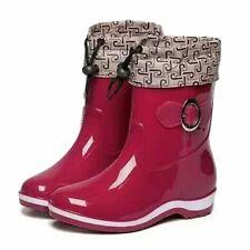 Rain Boots Rubber Women Ankle Boots Casual Platform Shoes Woman Warm Flat EVA