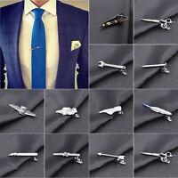 Men Metal Tie Clip Bar Necktie Pin Clasp Clamp Wedding Charm Creative Gift Magic