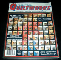 TRADITIONAL QUILTWORKS MAGAZINE ~ JUNE/JULY 1990 ~ #8 ~ QUILTING BUTTERFLY QUILT