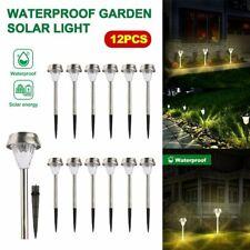 Waterproof 12Pcs Outdoor Solar Pathway LED Light Garden Yard Lawn Lamp Landscape