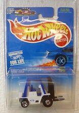 1997 HOT WHEELS WHITE & BLUE FORKLIFT #642