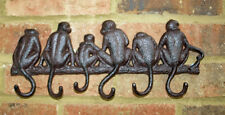 Monkey Hook Wall Rack Key Cast Iron Metal Hallway Tidy Kitchen Shabby Chic New
