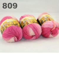 Sale New 3 Skeinsx50g Rainbows Coarse Hand Knit Quick Wool Yarn Shawl Scarves 09