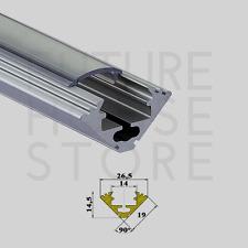 Anodised Aluminium Corner Profile Channel Extrusion P3 Silver 1m LED Strip UK