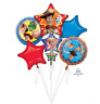 TOY STORY 4 PARTY SUPPLIES 5 PIECE FOIL BALLOONS BIRTHDAY BOUQUET DECORATIONS