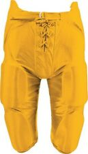 New Martin Youth Football Dazzle Game Pants w Integrated 7 Piece Pad Set Gold