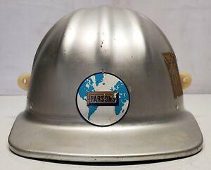 """Vtg Aluminum M-S-A McDonald T Hat Cap 6-3/4"""" Thru 7-5/8"""" Parsons"""