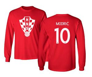 Croatia 2018 Soccer #10 Luka MODRIC World Cup Men's Long Sleeve T-Shirt