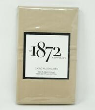1872 Solid 700 Thread Count 100% Egyptian Cotton Pillowcase PAIR - KING - Camel