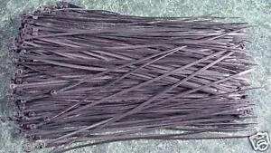 """500pc 12 """" Long BLACK CABLE / WIRE TIES Brand New terminal zip pull tie clamp"""