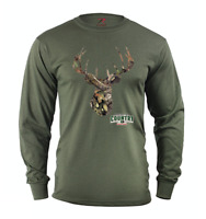 Mossy Oak long sleeve t-shirt for men army green camo deer decal tee shirt Gifts
