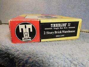 Timberline Models 2 Story Brick Warehouse Kit #1004-2495 - Rare