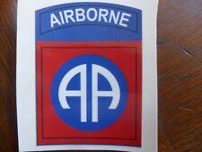 Autocollant sticker 82nd ALL AMERICAN  JEEP DODGE GMC WW2 USA DEBARQUEMENT D DAY