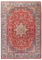 "Hand Knotted Red Blue Floral Wool Fine Oriental Rug Carpet 8'5"" x 11'9"""