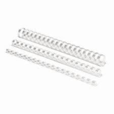 Fellowes baguette à relier en plastique, A4, 21 anneaux, 10mm, blanc