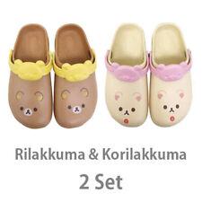 Rilakkuma & Korilakkuma Big Print sandal(crocs)set San-X NEW F/S