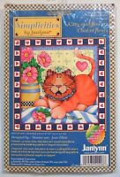 Janlynn Kitty & Flowers Joan Elliott 6 x 6 Cross Stitch Kit 2001 Kitten Cat