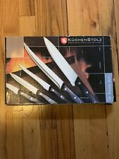 6 piece Knife/cutlery Set, cutting board, sharpner - KuchenStolz Brand new