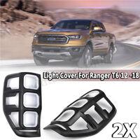 For 2012 - 2018 Ford Ranger T6 2Pcs Car Rear Tail Lamp Light Frame Cover