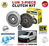 FOR VW CADDY Mk III 1.9 2.0 TDi + 16V + 4Motion 2009-ON CLUTCH KIT LUK 3 PIECE