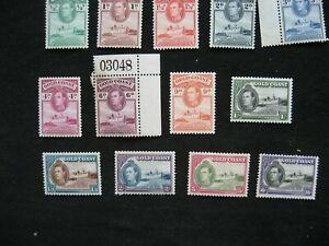Gold Coast 1938-43 Definitive Set Mint to OG