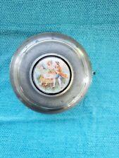 Vintage Thorens Switzerland Metal Powder Music Box Mirror