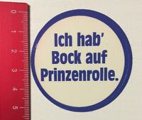Aufkleber/Sticker: Ich Hab Bock Auf Prinzenrolle (08051691)