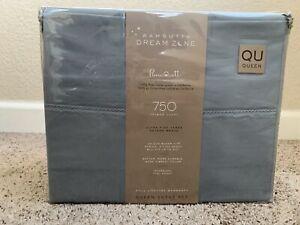 Wamsutta Dream Zone 750-Thread-Count PimaCott Queen Sheet Set in Solid Aqua