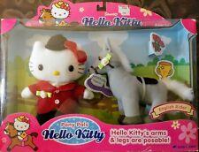 "Sanrio ""Hello Kitty"" English Rider Pony Pals Set 2003 *Rare New in Box*"