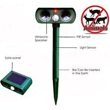 Aniamal Repeller Solar Power Ultrasonic PIR Sensor Yard Cat Dog Deterrent Scare