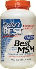 Doctors Best, MSM Con OptiMSM 1000mg x 180 Cápsulas Natural Azufre -