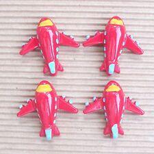 "US SELLER - 10pc x 1.25"" Resin Airplane/Aeroplane Flatback Embellishments SB617R"