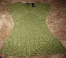 NEW Axcess Army Green Sleeveless Sweater size Medium