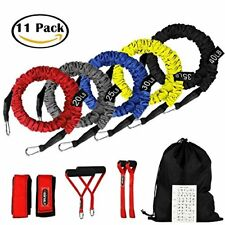 Resistance Bands 11 Pieces Exercise Elastic Bands Set 20lbs To 40lbs Resistan...