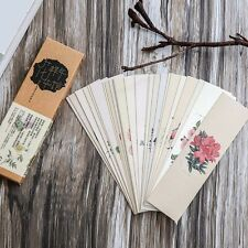 30pc/Box All Kinds Of Flowers Bookmark Book Mark Magazine Note Label Memo Office